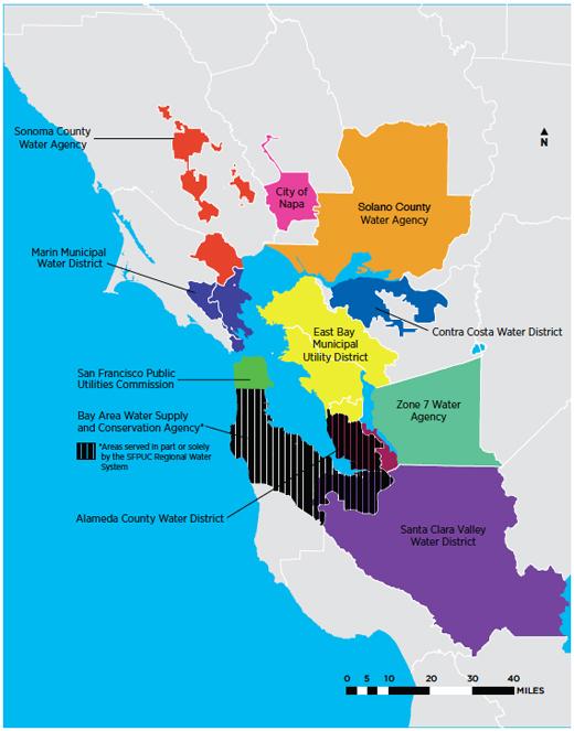 San jose water supply map
