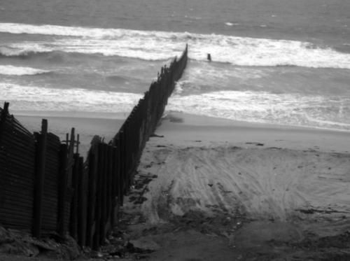 Metal Fence Along Border at Imperial Beach