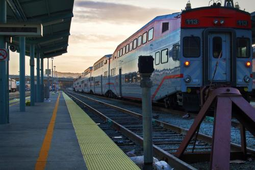 The Caltrain. [Photo by Flickr user smif]