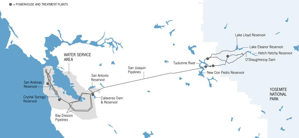 Water Water Everywhere SPUR - San jose water supply map
