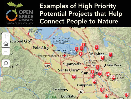 Examples of Potential Priority Projects for the Open Space Authority