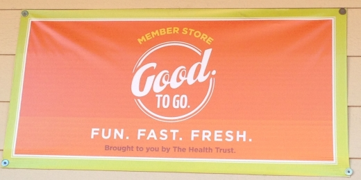 Good. To Go. Banner at Emit Mini Mart in San Jose