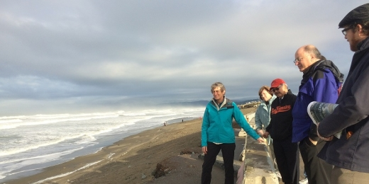 Secretary of the Interior Sally Jewell and Mayor Ed Lee visit Ocean Beach on December 18th to witness the impacts of rising seas on the San Francisco coastline.